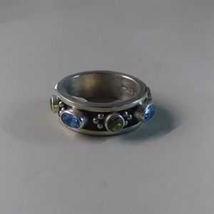 Signed Native American Gemstone Ring